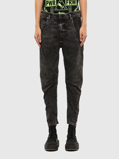 Diesel - FAYZA JoggJeans® 009FZ, Black/Dark Grey - Jeans - Image 1