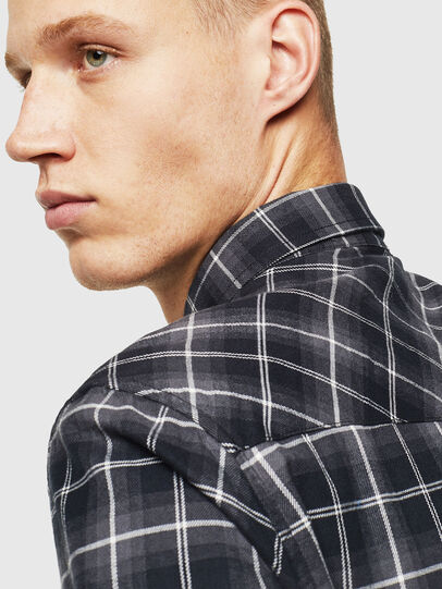 Diesel - S-EAST-LONG-N, Dark Grey - Shirts - Image 5