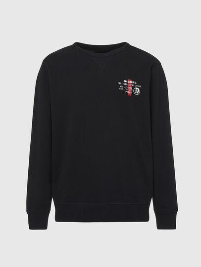 Diesel - UMLT-WILLY, Black - Sweatshirts - Image 1