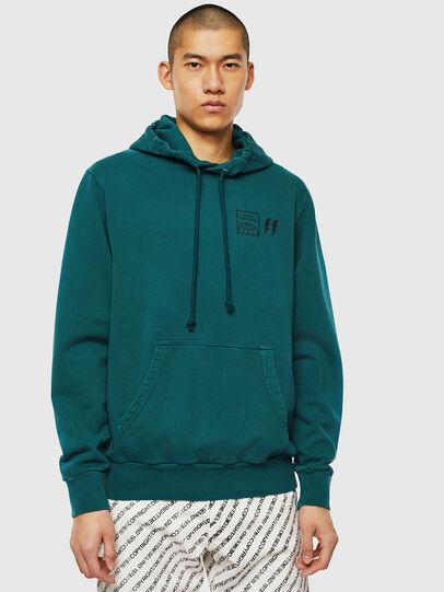 Diesel - S-GIRK-HOOD-SUN, Dark Green - Sweatshirts - Image 1