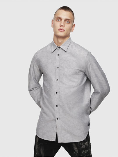 Diesel - S-MOI-R, Grey - Shirts - Image 1