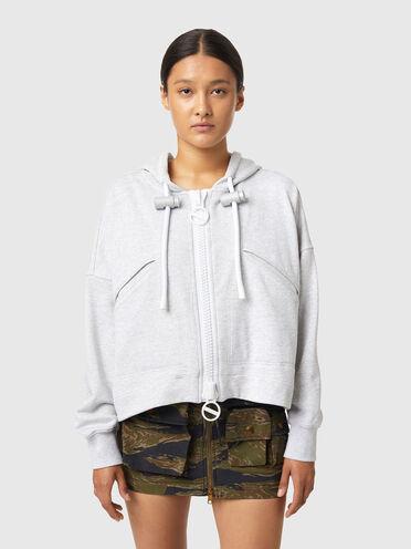 Cropped zip-up hoodie