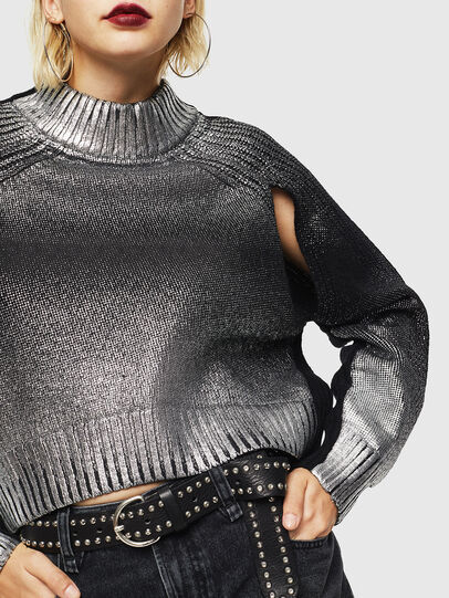 Diesel - M-FOLLY-A, Black/Silver - Sweaters - Image 5