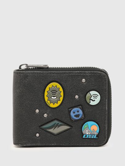Diesel - HIRESH XS ZIPPY CHAI, Black - Zip-Round Wallets - Image 1