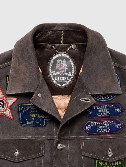 Diesel - DxD-4, Dark Grey - Leather jackets - Image 3