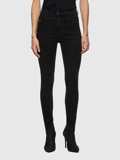 Diesel - Slandy High Skinny Jeans 069VW, Black/Dark Grey - Jeans - Image 1