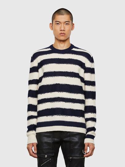 Diesel - K-BRODIE, White/Blue - Sweaters - Image 1