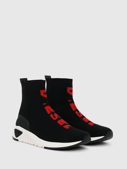 Diesel - S-KB MID ATHL SOCK, Black/Red - Sneakers - Image 2