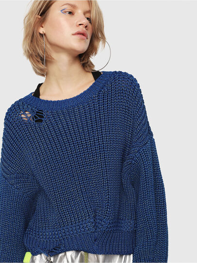 Diesel - M-BABI, Brilliant Blue - Sweaters - Image 4