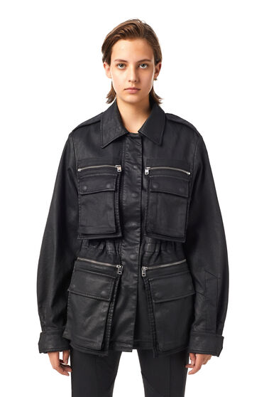 Chaqueta tipo ropa de trabajo en JoggJeans® recubierto