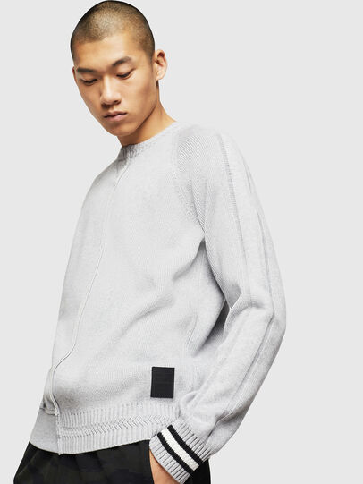 Diesel - K-BOX, Light Grey - Sweaters - Image 4