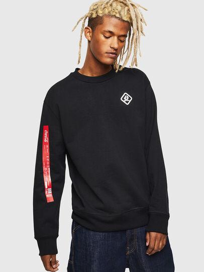 Diesel - CC-S-BAY-COLA, Black - Sweatshirts - Image 1