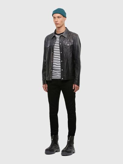 Diesel - L-NHILL-TRE, Black - Leather jackets - Image 5