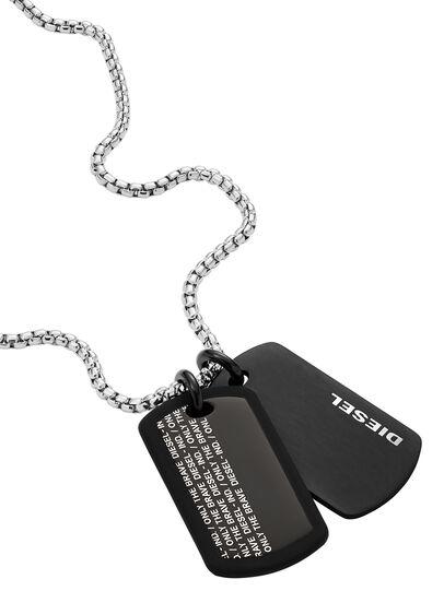 Diesel - DX1287, Black - Necklaces - Image 1