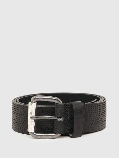 Diesel - B-ROLLY, Black Leather - Belts - Image 1