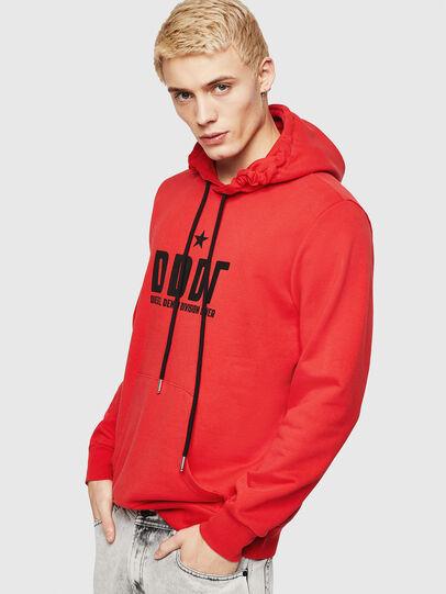 Diesel - S-GIR-HOOD-A1, Fire Red - Sweatshirts - Image 1