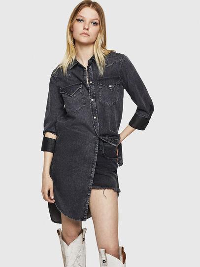 Diesel - DE-BLANK, Black/Dark Grey - Dresses - Image 4