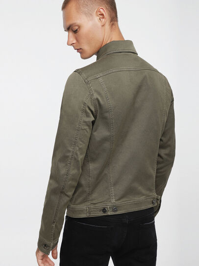 Diesel - ELSHAR JOGGJEANS, Military Green - Denim Jackets - Image 2
