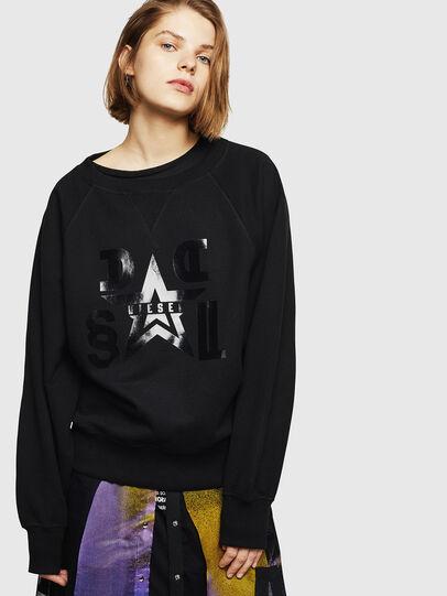 Diesel - F-HENNY-D, Black - Sweatshirts - Image 1