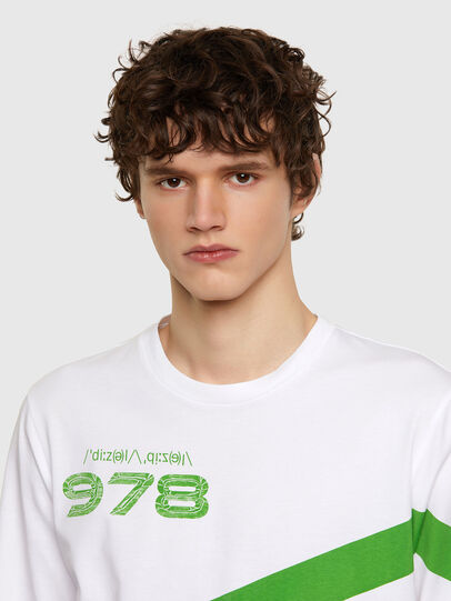 Diesel - T-JUST-LS-E2, White - T-Shirts - Image 3