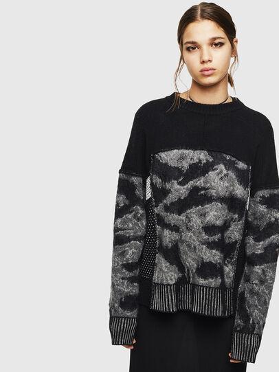 Diesel - M-POST, Black - Sweaters - Image 1