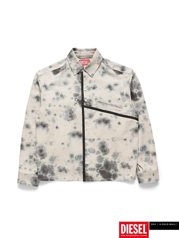 ACW-SH05, White/Black - Denim Shirts