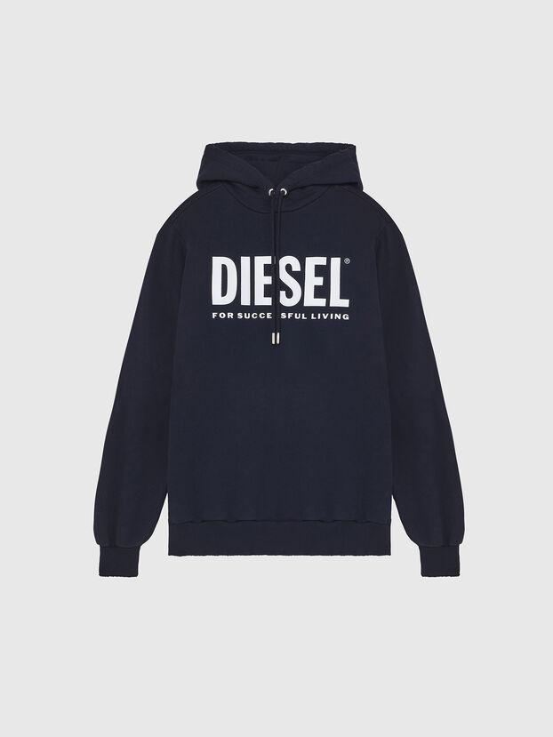 S-GIR-HOOD-DIVISION-, Dark Blue - Sweatshirts