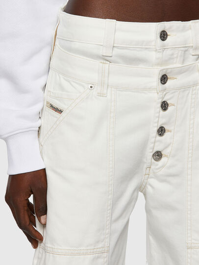 Diesel - D-Laly Wide Jeans 0HDAI, White - Jeans - Image 4