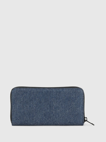 Diesel - 24 ZIP, Blue/Black - Zip-Round Wallets - Image 2