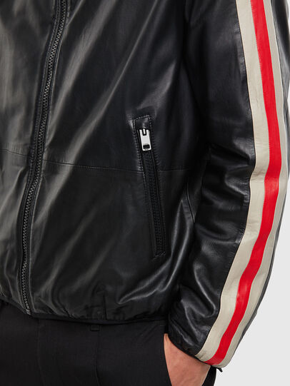 Diesel - L-MATHIAS, Black - Leather jackets - Image 4
