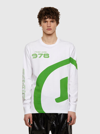 Diesel - T-JUST-LS-E2, White - T-Shirts - Image 1