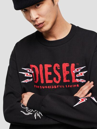 Diesel - CL-SNOR-LITMA, Black - Sweatshirts - Image 4