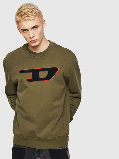Diesel - S-CREW-DIVISION-D, Military Green - Sweatshirts - Image 1