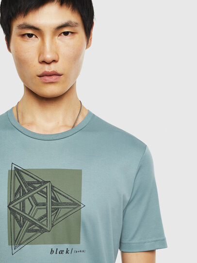 Diesel - T-TYRITE-B, Water Green - T-Shirts - Image 4