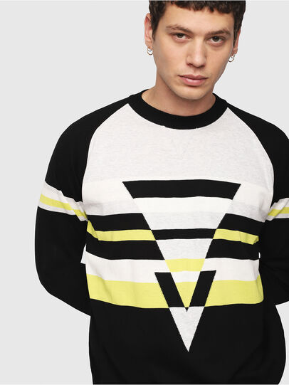 Diesel - K-SHUFF, Black/White - Sweaters - Image 3