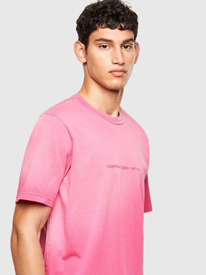 Diesel - T-JUBIND-SLITS-A1, Hot pink - T-Shirts - Image 3