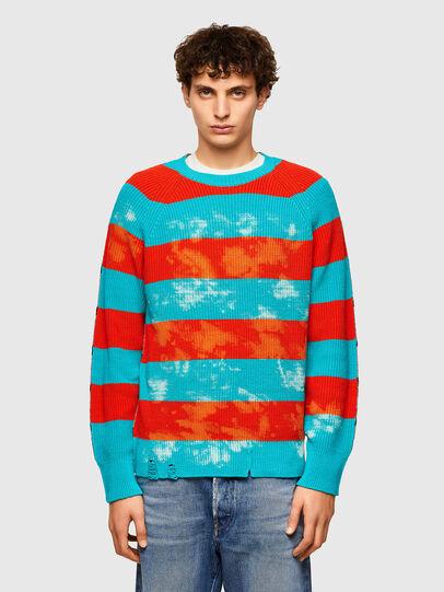 Diesel - K-JASPER, Blue/Red - Sweaters - Image 1