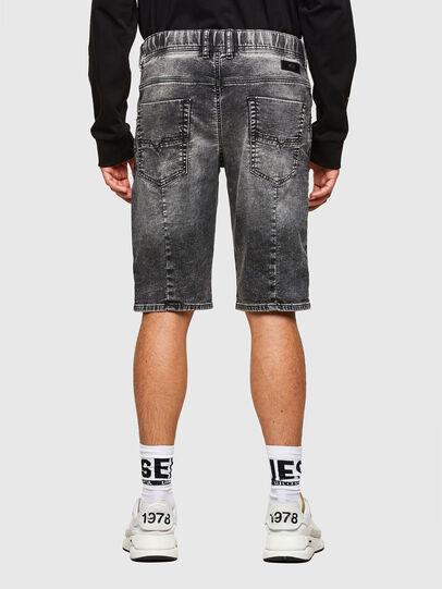 Diesel - D-KROOSHORT JOGGJEANS, Black - Shorts - Image 2