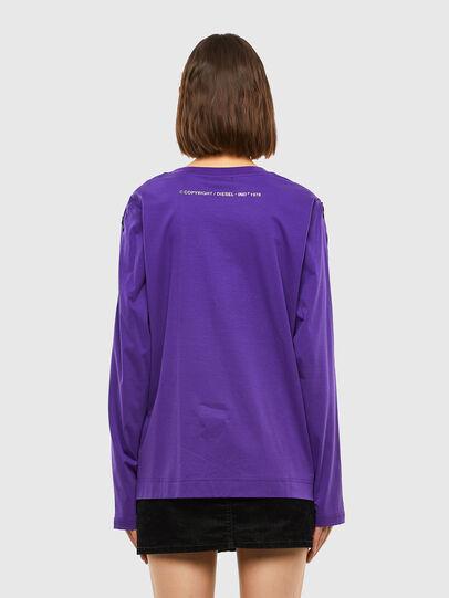 Diesel - T-ROSES, Violet - T-Shirts - Image 2