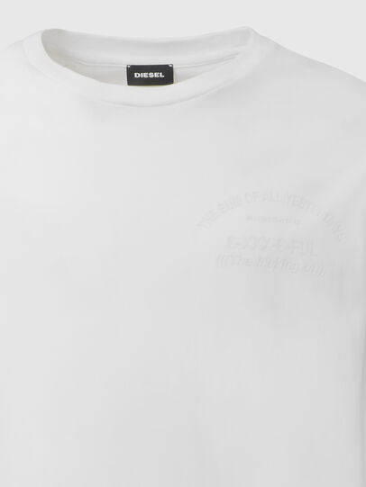 Diesel - T-JUST-LS-X91, White - T-Shirts - Image 3