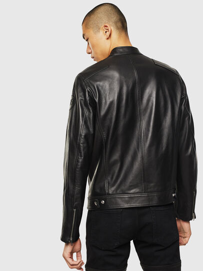 Diesel - L-BOY, Black - Leather jackets - Image 2