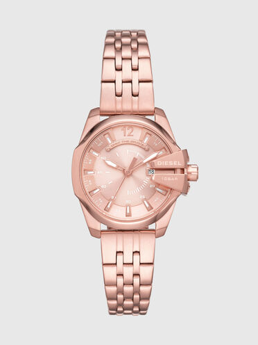 Baby Chief three-hand date rose gold-tone stainless steel watch