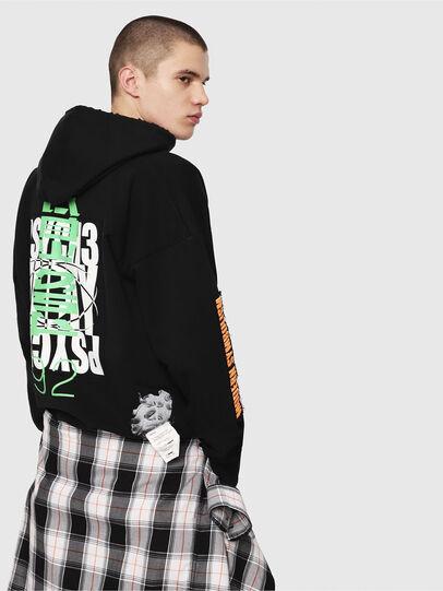 Diesel - S-ALBY-HOOD-Y1, Black - Sweatshirts - Image 2