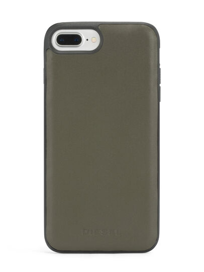 Diesel - OLIVE GREEN LEATHER IPHONE 8 PLUS/7 PLUS/6s PLUS/6 PLUS CASE, Olive Green - Cases - Image 4