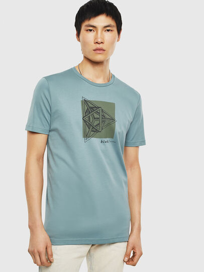 Diesel - T-TYRITE-B, Water Green - T-Shirts - Image 1