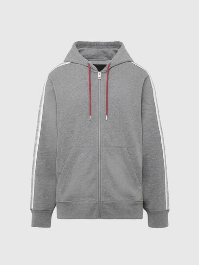 Diesel - UMLT-BRANDON-Z, Light Grey - Sweatshirts - Image 1