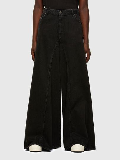 Diesel - D-Spritzz Flare Jeans 009RN, Black/Dark Grey - Jeans - Image 1