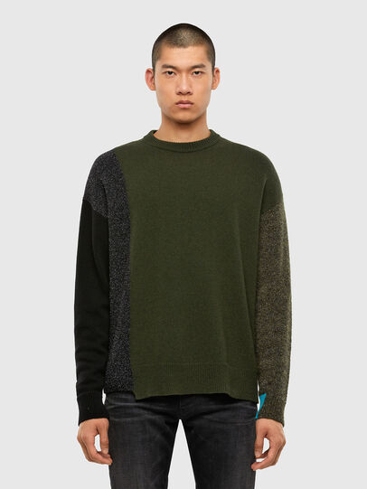 Diesel - K-MOSES, Olive Green - Sweaters - Image 1