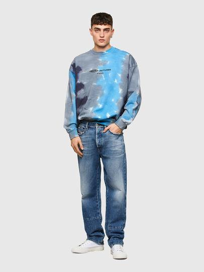 Diesel - S-MART-E4, Grey/Blue - Sweatshirts - Image 4