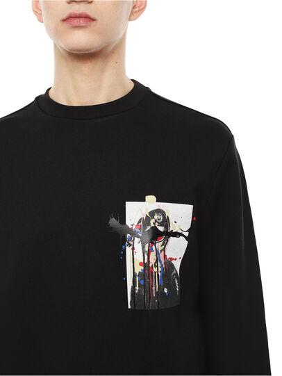 Diesel - SNEILB-DRIPPINGSOLDI, Black - Sweatshirts - Image 3